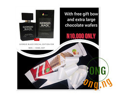 GIORGIO BLACK 100ml +GIFT BOW+EXTRA LARGE CHOCOLATE WAFERS (omoresther2008) Tags: olx nigeria olxnigeria nig abuja lagos phones sell buy online