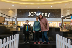Family at the Chapel Hill Mall fountain (unit2345) Tags: chapelhillmall cuyahogafalls ohio mall billy joanna mom jack