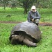 David Stanley with a Giant Tortoise