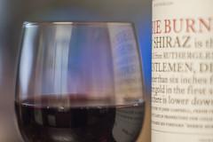 Of Rutherglen (OzzRod) Tags: pentax k1 ennar10cmf25 projectorlens wine glass bottle label bokeh macro