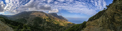 Diafani-Olympos, northern Karpathos (My digital Gallery) Tags: diafani olympos greece griechenland dodecanes dodekanes europe eu panorama landscape sky blue clouds white road mountains sea