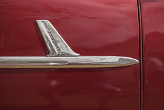 Classic Chevrolet Wagon (Detail) (jolynne_martinez) Tags: chevrolet chevy classiccar vintage car automobile auto wagon airplane chrome red detail nikkor nikon nikond60 photoshop cuba cuban cubanisms