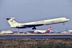 YR-IRE IL-62M Tarom op LOT LHR January 1986 (Colin Cooke Photo) Tags: yrire il62m tarom op lot lhr january 1986