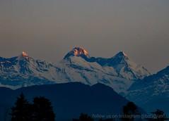 First Ray on Nandadevi Peak from Chaukori, Uttarakhand (sourav.ghosh008) Tags: uttarakhand chaukori kumaon firstray nandadevipeak sunriseonhills