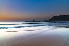 Hot Summer Sunrise Seascape (Merrillie) Tags: daybreak sunrise nature water landscape sky newsouthwales sea uminabeach morning waves beach ocean coast nsw earlymorning coastal dawn outdoors waterscape australia centralcoast seascape seaside