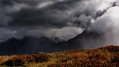 Weatherfront in Austria (CarlH_) Tags: clouds weather rain mountain hiking thunder