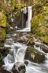 """Der """"große"""" Höllbach-Wasserfall, Langzeitbelichtung"""