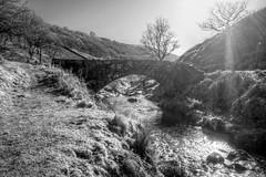 PackhorseBridge (Tony Tooth) Tags: nikon d7100 sigma 1020mm bridge packhorsebridge stream brook river riverdane hdr threeshireshead derbyshire bw blackandwhite monochrome england countryside landscape