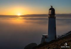 Cutting Through (www.jamesbrew.com) (James Brew (www.jamesbrew.com)) Tags: isleofman isleofmanphotography landscape landscapephotography sunrise mist coast seascape lighthouse