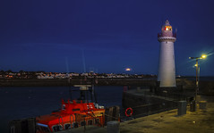 Moonset Over The 'Dee   [Explored] (RonnieLMills 7 Million Views. Thank You All :)) Tags: donaghadee harbour lighthouse rnli lifeboat early morning dawn moonset county down northern ireland ronnielmills landscape photography moon explore explored 090220 174 saturday