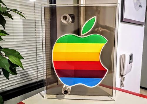Logo arco iris de Apple Computer