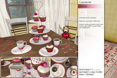 Sway's [Hedy] Cupcake Set | Wanderlust (Sway Dench / Sway's) Tags: wanderlust sways sl vr cupcake coffee love hearts cakestand etagere valentines valentinesday red pink sweet candy cake yummy heart