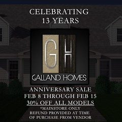 Galland Homes ' 13th Anniversary Sale (Rob Galland {Galland Homes}) Tags: gallandhomes secondlifearchitecture second life houses homes
