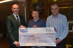 Cheque presentation to Foyle Hospice