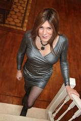 Brunette makes an appearance (suedel36) Tags: crossdresser crossdress transvestite pantyhose tights nylon tgirl tgurl