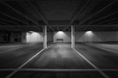 Empty Spaces (shutterclick3x) Tags: parking deck blackandwhite bw frankloose moody lightandshadow lines