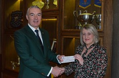 Cheque Presentation to Marie Curie