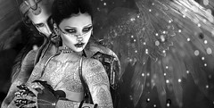 We Live Forever (Opale Lily) Tags: wings angel dark goth rp monochrome