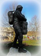 New Paratrooper Statue - Aldershot * (John(cardwellpix)) Tags: 7140 new paratrooper statue aldershot recognition special relationship between the parachute regiment air forces home british army 1946 2000 sculptor goodman ~2019