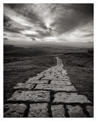 The Path. Mam Tor, Peak District (S.R.Murphy) Tags: fujifilmxf1680mm greatridge landscape leefilters mamtor peakdistrict fujifilmxt2 bw bnw blackandwhite monochrome path clouds sky outside flickrexplore09022020 castleton highpeak