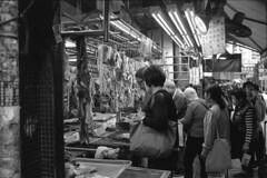 """""""Local Butcher"""" (von Calven Lee) Tags: leicacl summicron 35mm 11108 blackandwhite blackwhite bw hongkong rollfilm leica"""