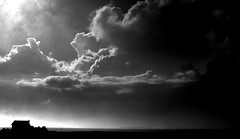 Shelter From The Storm (NinoColetti) Tags: cloud storm house horizon bw monochrome sky