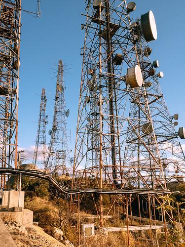 Telecom antennas at Pico do Jabre