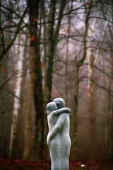 """Cincinnati - Spring Grove Cemetery & Arboretum """"Embrace"""" (David Paul Ohmer) Tags: cincinnati ohio spring grove cemetery arboretum statue embrace wilderness woods"""