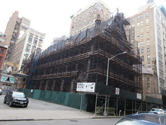 2020 Trinity Chapel Complex Church Ruin from Fire 5276 (Brechtbug) Tags: 2020 trinity chapel complex church ruin from fire 05032016 may 3rd 2016 located flatiron district 15 west 25th street between broadway avenue americas 6th 02082020 constructed 185055 was designed by architect richard upjohn english gothic revival style gutted ruins nyc urban new york city manhattan later named serbian orthodox cathedral st sava saint bust nikola tesla stands outside