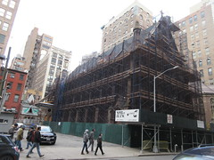 2020 Trinity Chapel Complex Church Ruin from Fire 5275 (Brechtbug) Tags: 2020 trinity chapel complex church ruin from fire 05032016 may 3rd 2016 located flatiron district 15 west 25th street between broadway avenue americas 6th 02082020 constructed 185055 was designed by architect richard upjohn english gothic revival style gutted ruins nyc urban new york city manhattan later named serbian orthodox cathedral st sava saint bust nikola tesla stands outside