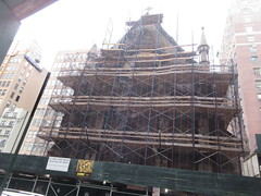 2020 Trinity Chapel Complex Church Ruin from Fire 5274 (Brechtbug) Tags: 2020 trinity chapel complex church ruin from fire 05032016 may 3rd 2016 located flatiron district 15 west 25th street between broadway avenue americas 6th 02082020 constructed 185055 was designed by architect richard upjohn english gothic revival style gutted ruins nyc urban new york city manhattan later named serbian orthodox cathedral st sava saint bust nikola tesla stands outside