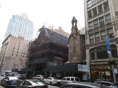 2020 Trinity Chapel Complex Church Ruin from Fire 5271 (Brechtbug) Tags: 2020 trinity chapel complex church ruin from fire 05032016 may 3rd 2016 located flatiron district 15 west 25th street between broadway avenue americas 6th 02082020 constructed 185055 was designed by architect richard upjohn english gothic revival style gutted ruins nyc urban new york city manhattan later named serbian orthodox cathedral st sava saint bust nikola tesla stands outside