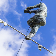 Suspension_DSC0119 (GmanViz) Tags: gmanviz color sonya6000 art sculpture schillerpark germanvillage columbus ohio kinetic jerzykędziora