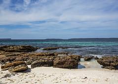Forgotten Firetruck (fantommst) Tags: nsw shoalhaven sea white beach water toy sand teal au rocky australia firetruck forgotten newsouthwales aus hyams ocean jervisbay