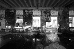 Seeing Through To The Other Side (Dysfunctional Photographer) Tags: abandoned monochrome blackwhite building brick debris water wet sun day haskell arkansas 2020 usa nikon z7 nef captureone decay decaying south southern