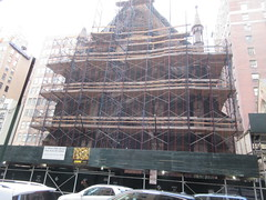 2020 Trinity Chapel Complex Church Ruin from Fire 5273 (Brechtbug) Tags: 2020 trinity chapel complex church ruin from fire 05032016 may 3rd 2016 located flatiron district 15 west 25th street between broadway avenue americas 6th 02082020 constructed 185055 was designed by architect richard upjohn english gothic revival style gutted ruins nyc urban new york city manhattan later named serbian orthodox cathedral st sava saint bust nikola tesla stands outside