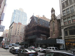 2020 Trinity Chapel Complex Church Ruin from Fire 5272 (Brechtbug) Tags: 2020 trinity chapel complex church ruin from fire 05032016 may 3rd 2016 located flatiron district 15 west 25th street between broadway avenue americas 6th 02082020 constructed 185055 was designed by architect richard upjohn english gothic revival style gutted ruins nyc urban new york city manhattan later named serbian orthodox cathedral st sava saint bust nikola tesla stands outside