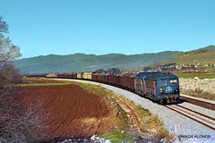 OSE Α 257 + Α 255 (Artemis & Nikos Klonos) Tags: greece hellas nk freighttrain diesel normalgauge 1986 parori ganzmavag ose
