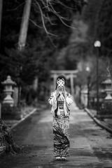 白狐 ( White Fox ) (HarQ Photography) Tags: monochrome blackandwhite conceptual portrait panasonic lumix s1r sigma 135mmf18dghsm art japan bestportraitsaoi
