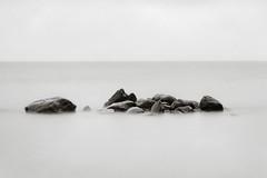 Rocks in water (Geir Bakken) Tags: harman directpositivepaper longexposure rocks water sea analog analogphotography film filmisnotdead filmphotography largeformat 4x5 4x5camera linhofcolor rodenstock apo ronar papernegative blackandwhite bw