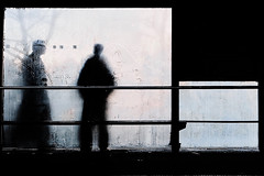 The encounter (Guido Klumpe) Tags: candid street streetphotographer streetphotography strase hannover hanover germany deutschland city stadt streetphotographde unposed streetshot gebäude architecture architektur building perspektive perspective color farbe outdoor drausen minimal minimalism minimalistisch simple reduced kontrast contrast gegenlicht shadow schatten silhouette spiegelung mirror reflection reflected mann men gentleman outside himmel sky