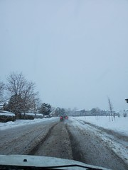 February 7, 2020 - Messy roads in the snowstorm. (LE Worley)
