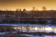 В сумерках заката (Павел Ныриков) Tags: закат природа пейзаж река подмосковье вера православие можайск нашеподмосковье