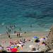 20170712_4 Swimmers on small beach in Monterosso, Cinque Terre, Italy