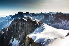 First Steps (Denis Moynihan) Tags: alps aiguille du midi mont blanc chamonix france mountains snow mountaineers sky sun summer