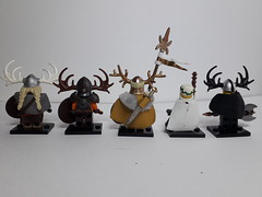 VIKINGS set 3 (krisdecatte) Tags: lego medieval vikings custom minifigurines
