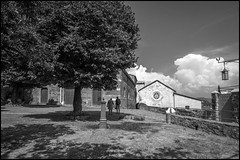 Oculus (GColoPhotographer) Tags: oculo bianconero architechture blackandwhite liguria portovenere church bw clouds