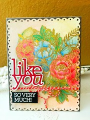 Like you so very much (yvenn.lee) Tags: embossing watercoloring handmadecard cardmaking sssflickrchallenge sssflickrchallenge142