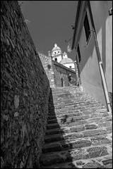 Stair (GColoPhotographer) Tags: liguria bianconero bw blackandwhite portovenere stair church architechture