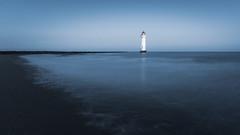 Calm (Rob Pitt) Tags: new brighton lighthouse calm sunrise blue hour wirral coast hss